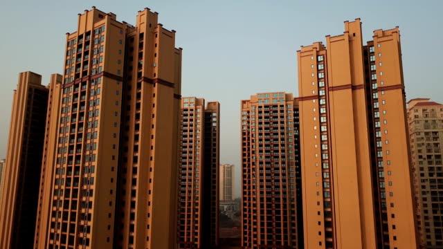 Luftaufnahme von Mehrfamilienhäusern