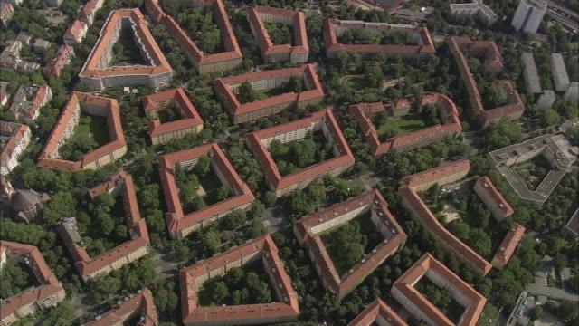 AERIAL Apartment buildings, Berlin, Brandeburg, Germany