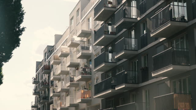 apartment buildings in berlin, germany - flat stock videos & royalty-free footage