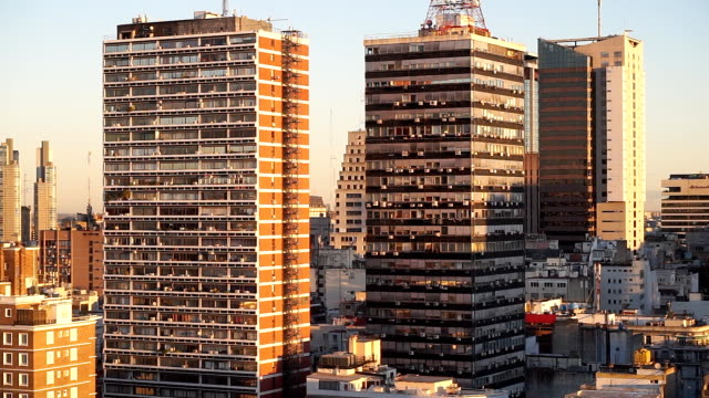 apartment buildings in buenos aires, argentina - buenos aires stock videos & royalty-free footage
