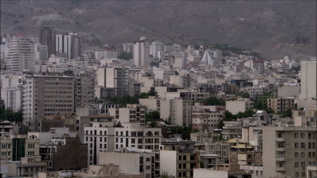 ms ha pan apartment buildings in north tehran, iran - tehran stock videos and b-roll footage