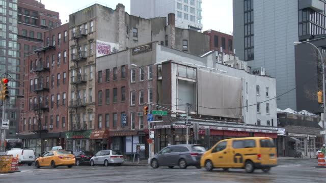 Apartment Buildings On The Lower East Side (The Bowery) - Manhattan, NYC