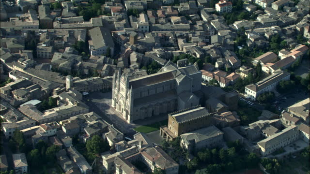 aerial, apartment buildings, rome, italy - circa 14th century stock videos & royalty-free footage