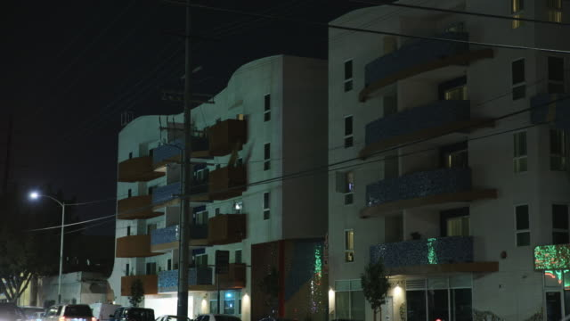 Apartment Complex in East Los Angeles - Night