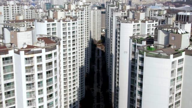 vídeos y material grabado en eventos de stock de apartment complex / songpa-gu, seoul, south korea - pared de cemento