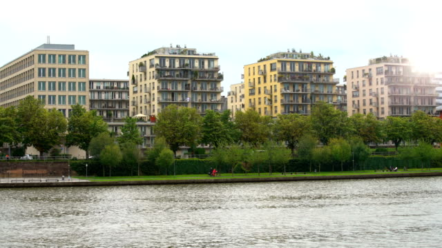 apartment houses in frankfurt, time lapse - geographical locations stock videos and b-roll footage