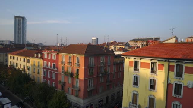 apartment view in milan, italy - appartamento video stock e b–roll