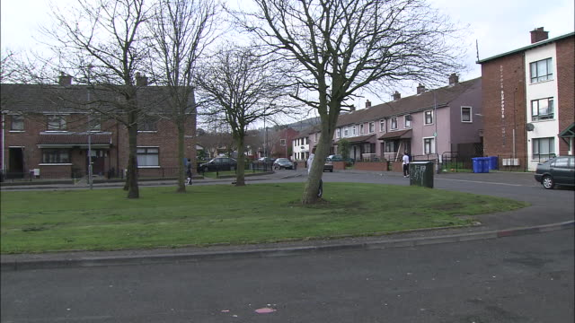 apartments comprise part of the protestant district in belfast, northern ireland. - protestantism stock videos & royalty-free footage