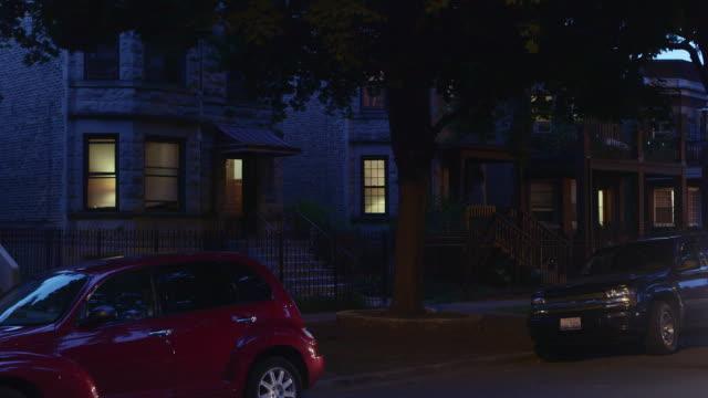 WS Apartments in residential neighborhood night