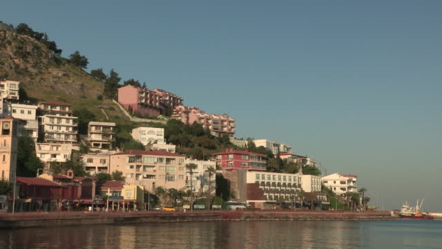 apartments to island fortress, kusadasi, turkey - aydın province stock videos and b-roll footage