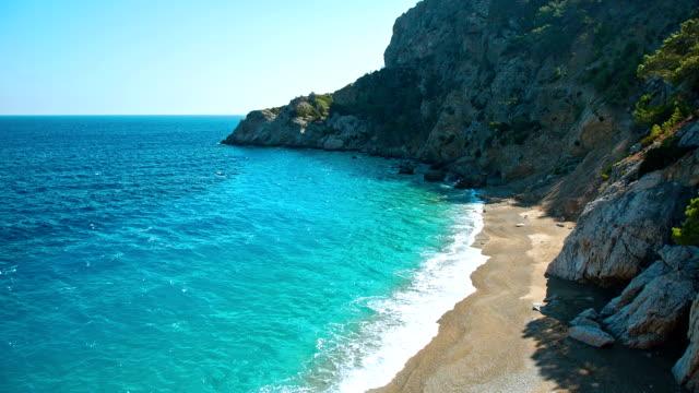 hd: apella beach, karpathos island, greece - greek islands stock videos and b-roll footage