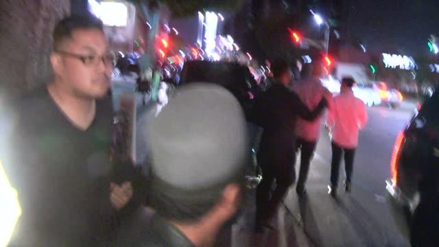 stockvideo's en b-roll-footage met apldeap at the warwick in hollywood celebrity sightings in los angeles ca on - apl.de.ap