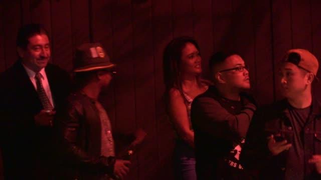 stockvideo's en b-roll-footage met apldeap departing hooray henry's in west hollywood at celebrity sightings in los angeles on may 07 2014 in los angeles california - apl.de.ap