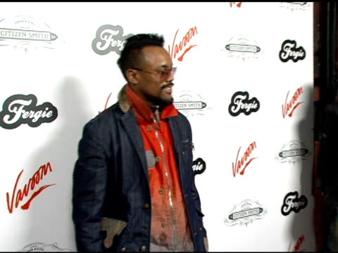 apldeap of the black eyed peas at the birthday celebration for fergie at citizen smith in hollywood california on march 28 2006 - the black eyed peas band stock videos and b-roll footage