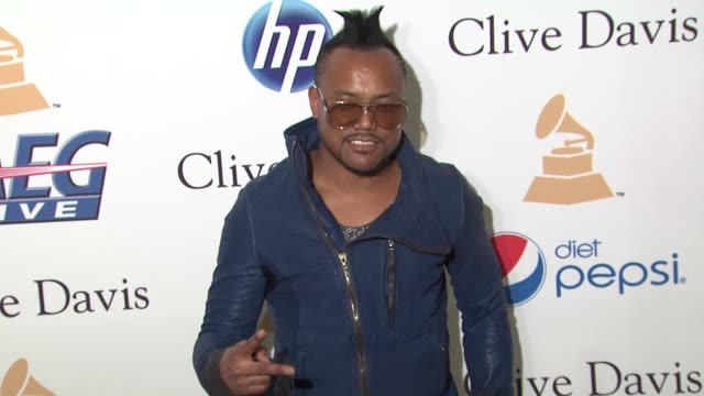 apldeap of the black eyed peas at the pregrammy gala salute to industry icons with clive davis honoring david geffen at beverly hills ca - the black eyed peas band stock videos and b-roll footage