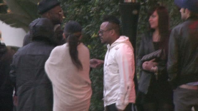 stockvideo's en b-roll-footage met apldeap outside the w hollywood hotel at the celebrity sightings in los angeles at los angeles ca - apl.de.ap
