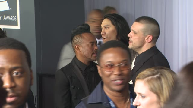 stockvideo's en b-roll-footage met apldeap taboo at the 52nd annual grammy awards arrivals part 2 at los angeles ca - apl.de.ap