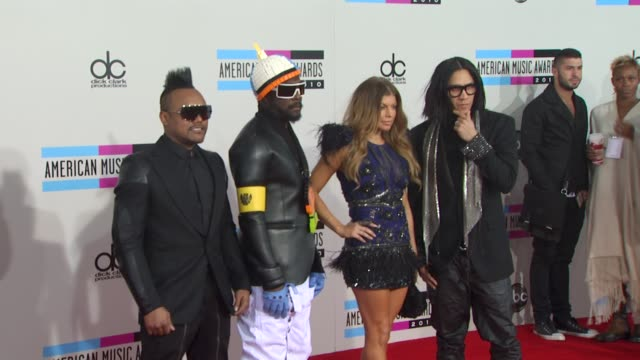 apldeap william fergie and taboo from the musical group black eyed peas at the 2010 american music awards arrivals at los angeles ca - will.i.am stock videos and b-roll footage