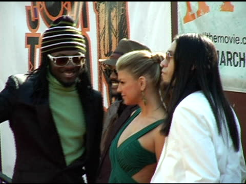 apldeap william fergie and taboo of the black eyed peas at the 20th annual soul train music awards at pasadena civic auditorium in pasadena... - the black eyed peas band stock videos and b-roll footage
