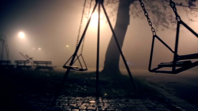 apocalyptic swings - parco giochi video stock e b–roll
