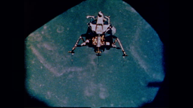 apollo 11 lands lunar module eagle on moon's surface - 1969 stock videos & royalty-free footage
