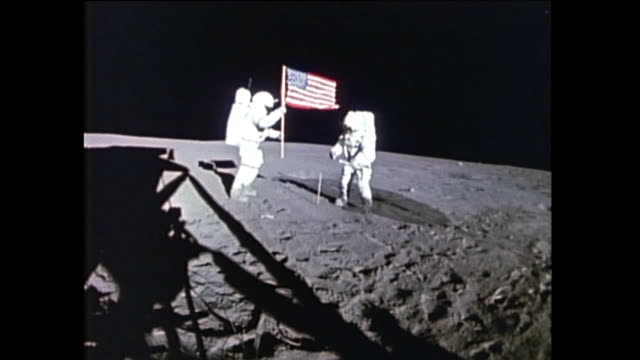 apollo 14 was the eighth manned mission in the apollo program and the third to land on the moon it included a twoday stays on the moon with two lunar... - erdreich stock-videos und b-roll-filmmaterial