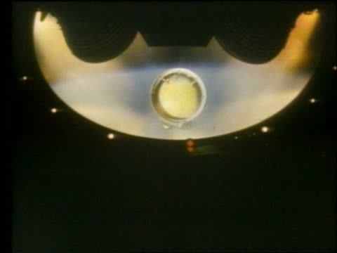 apollo saturn rocket stage separation with earth in background - separation stock videos and b-roll footage