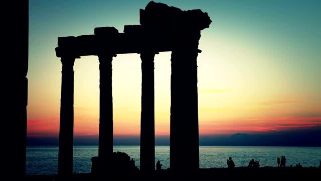 HD: Apollo temple, Side, Antalya, TURKEY