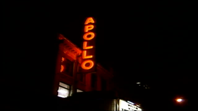 apollo theater sign in harlem - harlem stock videos & royalty-free footage