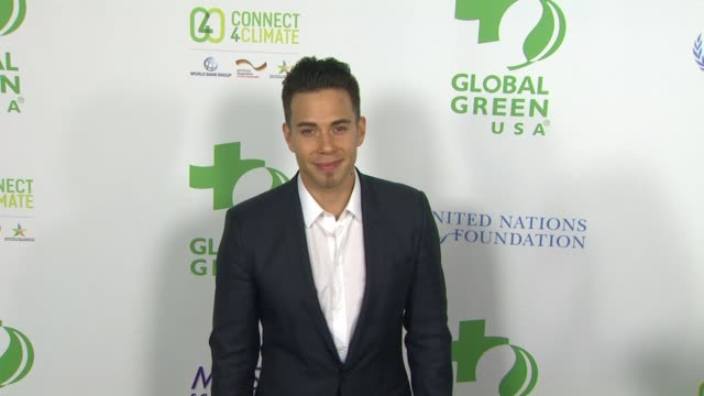 vídeos de stock, filmes e b-roll de apolo ohno at global green usa 13th annual preoscar® party in los angeles ca - global green usa