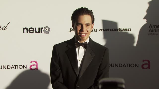 apolo ohno at the 18th annual elton john aids foundation oscar party at west hollywood ca. - oscar party stock videos & royalty-free footage