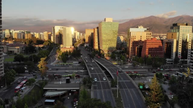 apoquindo avenue - chile stock videos & royalty-free footage