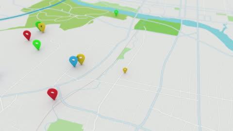 vídeos y material grabado en eventos de stock de mapa de estilo app con indica, 4k - ubicaciones geográficas