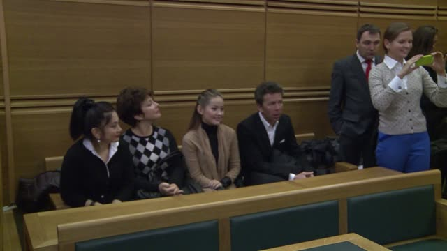 vídeos de stock, filmes e b-roll de appeals court examines a request by ukraine for the extradition of kazakh opposition figure mukhtar ablyazov who is wanted by kazakhstan russia and... - aix en provence