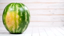 appearance and cutting watermelon