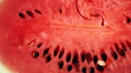 Appetizing juicy pulp of watermelon. Red watermelon close-up.