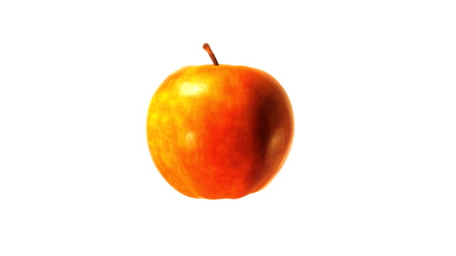 vídeos de stock, filmes e b-roll de apple de 360º - figura para recortar