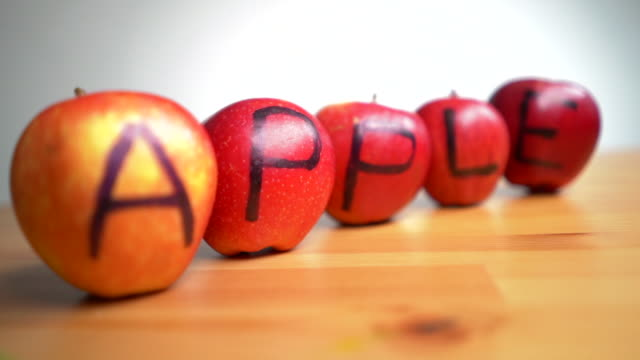apple anacronym for anxiety - apple fruit stock videos & royalty-free footage