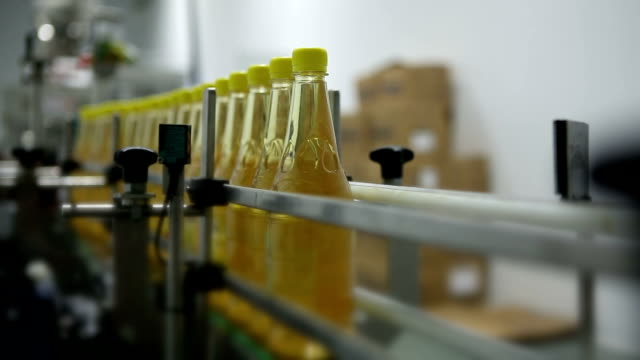 apple cider vinegar - bottling plant stock videos and b-roll footage
