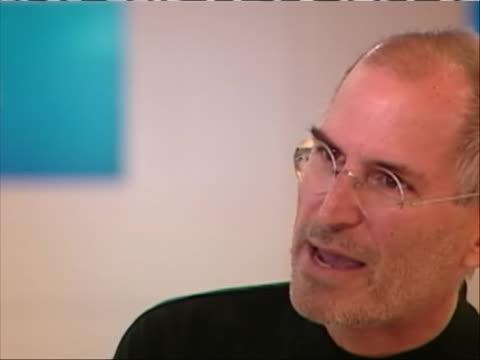 apple cofounder steve jobs is being interviewed cu of jobs the clip jobs says people talk a lot about brands to me a brand is one simple thing and... - walt disney animation studios stock videos & royalty-free footage