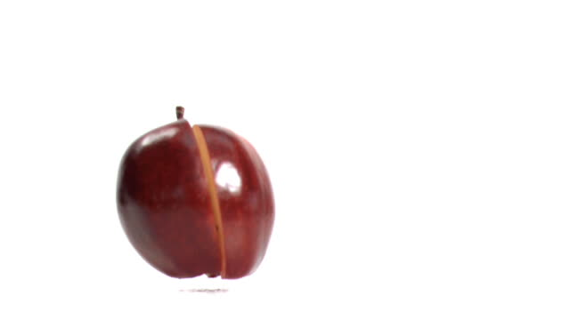 Apple falling down in super slow motion