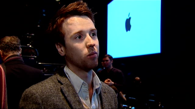 Apple launch iPad 2 in San Francisco ENGLAND London Billington interview SOT