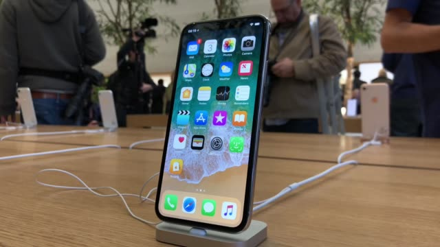 apple launch the iphone x on general sale november 3 2017 in london england - launch event stock videos & royalty-free footage
