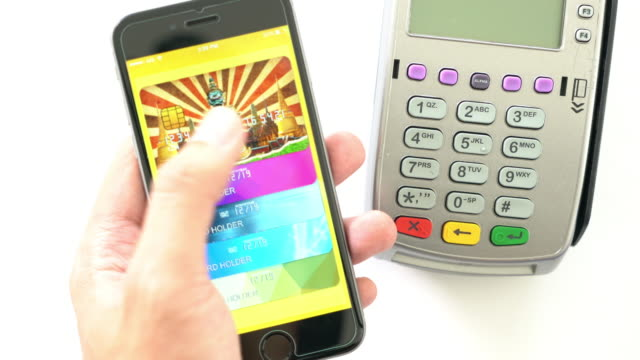 apple pay contactless payment 4k - wap stock videos & royalty-free footage