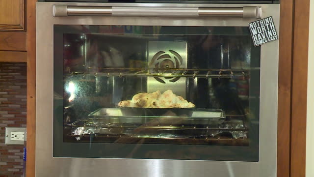 WGN Apple Pie Placed in Oven Baking Taken Out of Oven in Chicago on Sept 30 2017