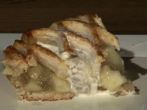 Apfelkuchen mit Creme