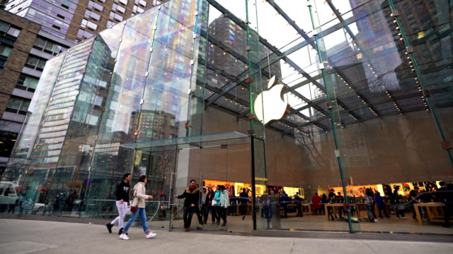 apple shop entrance - apple store stock videos & royalty-free footage