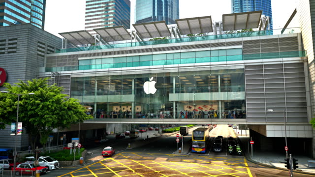 apple store in ifc. hong kong - electronics industry stock videos & royalty-free footage