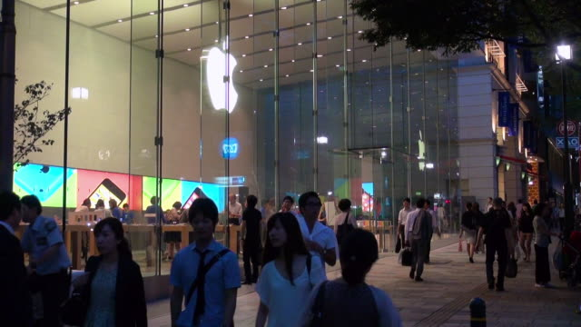 apple store in omotesando - apple store stock videos & royalty-free footage