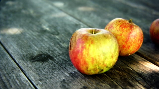 apples - small group of objects stock videos & royalty-free footage